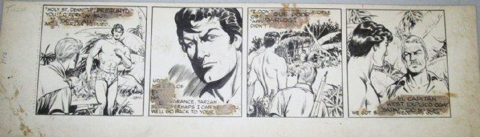 HOGARTH, BURNE ghosting with DAN BARRY - Tarzan daily #2841 1948, all Tarzan! Comic Art