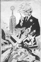 HOBERG, RICK - What If? #26 rejected cover, Captain America vs President Red Skull, 1981 inked 1989 Comic Art
