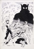 HOBERG, RICK / JIMMY PALMIOTTI - Team Anarchy #11 cover, 1st version Comic Art
