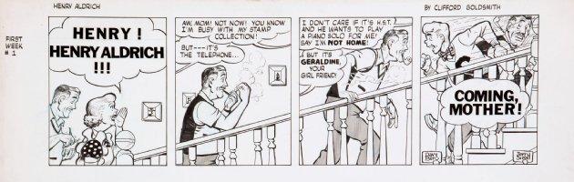 BERG, DAVE - Henry Aldrich daily,  Comic Art