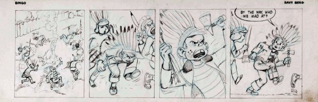 BERG, DAVE - Bingo daily - Indians Comic Art