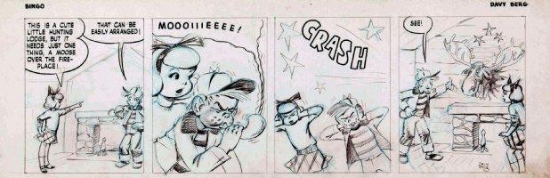 BERG, DAVE - Bingo daily - Moose call Comic Art