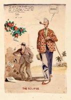 WEBSTER, HAROLD T - Christmas Cartoon painting - Self-portrait & horse-track gag Comic Art