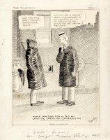 WEBSTER, HAROLD T. - The Timid Soul daily, Casper Milquetoast avoids world topics, 1/11 1932 Comic Art
