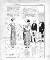 WEBSTER, HAROLD - Bridge comic strip,  The Quarrel  on card game 1924 Comic Art