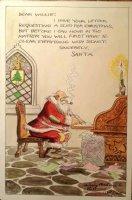 WEBSTER, HAROLD T. - Santa Color Cartoon 1944 Comic Art