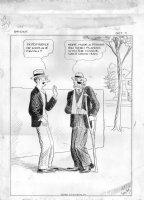WEBSTER, HAROLD - Bridge comic strip, a beaten card player, who ruined wife's score  1931 Comic Art