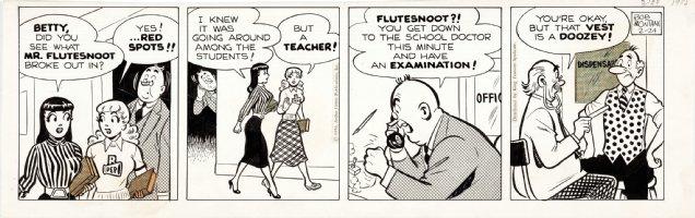 MONTANA, BOB - Archie daily, Betty & Veronica expose teacher 7/18 1956 Comic Art