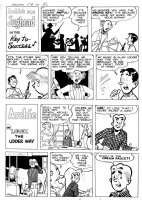 MONTANA, BOB - Archie's Joke Book #2 pg 23, two complete half-page stories with Archie & Jughead 1953 pre-code Comic Art