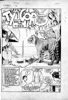 MONTANA, BOB - Blue Ribbon #19, Dec 1941 - Ty Gor: Son of the Tiger splash Comic Art