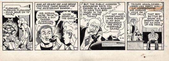 GOTTO, RAY - Ozark Ike daily 6/16 1948, Baseball & flowers to bombshell Dinah Fatfield Comic Art