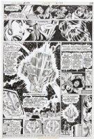 DILLIN, DICK - JLA #143 pg 17, Poisen Ivy, Scarecrow, Wonder Woman at JLA HQ Comic Art
