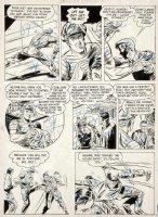 DILLIN, DICK - Whiz Comics #117 large pg, Lance O'Casey in crocked prison Fawcett, 1950 Comic Art