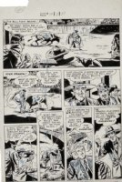DILLIN, DICK - Whiz Comics #119 large pg, Lance O'Casey as bull-fighter - Fawcett, 1950 Comic Art