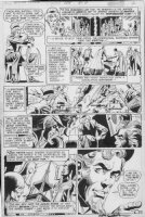 DILLIN DICK / GIORDANO & NEAL ADAMS signed - Justice League #108 pg 3, JLA, JSA & first-origin Earth X storyline / Quality Golden-age Heroes Comic Art