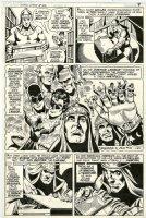 DILLIN, DICK - JLA #182 pg 7, JLA team flashback - captured by Felix Faust, Dillin's 2nd to last issue, 1980 Comic Art