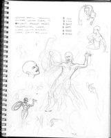 HUGHES, ADAM - Sketchbook 1999 page H Comic Art
