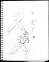 HUGHES, ADAM - Sketchbook 1999 page J Comic Art