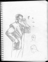 HUGHES, ADAM - Sketchbook 1999 page NN Comic Art