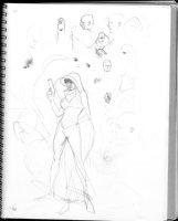 HUGHES, ADAM - Sketchbook 1999 page U Comic Art