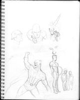HUGHES, ADAM - Sketchbook 1999 page V Comic Art
