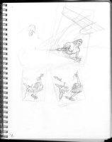 HUGHES, ADAM - Sketchbook 1999 page T Comic Art