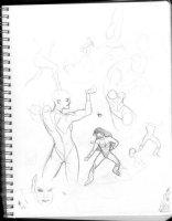 HUGHES, ADAM - Sketchbook 1999 page D Comic Art