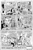ROTH, WERNER / DICK AYERS - Uncanny X-Men #26 twice-up pg 6, X-Men, Jean Gray in only 2 pgs, Calvin AKA Mimic 2nd app Comic Art