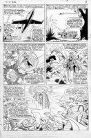 ROTH, WERNER / DICK AYERS - Uncanny X-Men #26 twice-up pg 8, XMen in Blackbird, villains Comic Art
