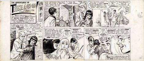 POWELL, BOB - Teena A Go Go Sunday 1/1 1967 tears before a fashion show  Comic Art