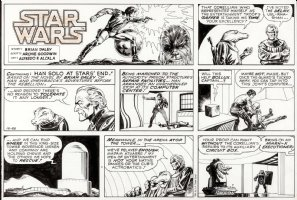 ALCALA, ALFREDO - Star Wars Sunday, Han Solo & Chewy adventure 12/26 1980  Comic Art