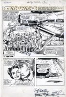 CHAYKIN, HOWARD - Star Wars Issue - Marvel Magazine Pizzazz #1 splash, main heroes, same year as SW #1 1977 Comic Art