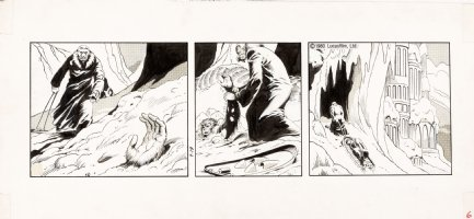 STEVENS, DAVE / RICK HOBERG - Star Wars daily 7/19 1980 Chewy in snow - All ART - No TEXT Comic Art