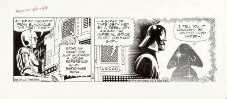 MANNING, RUSS - Star Wars daily, C3PO, Darth Vader, 6/11 1979 Comic Art