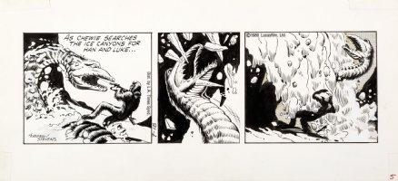 STEVENS, DAVE / RICK HOBERG - Star Wars daily 7/18 1980 Chewy vs Ice Monster Comic Art