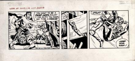 STEVENS, DAVE / RICK HOBERG - Star Wars daily 7/14 1980, Boba Fett vs Han & Luke  Comic Art
