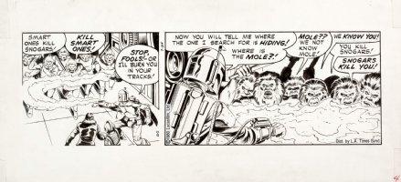 STEVENS, DAVE / RICK HOBERG - Star Wars daily, Boba Fett 7/24-80 Comic Art