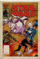 MARTIN, CYNTHIA P&I / KEN STEACY - Star Wars #105 Marvel painted cover, Luke Skywalker & lightsaber + Plif & Hoojibs VS deadly foes, Galactic Civil War! 1986 Comic Art