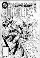 ANDRU, ROSS - Jonah Hex #63 cover, Jonah faces the classic shipboard dilemma: hooks or sharks Comic Art