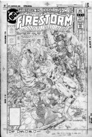 BRODERICK, PAT- Firestorm #2 unlinked pencil cover, Alice in Wonderland - now on Flash' TV Comic Art