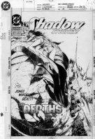 QUESADA, JOE - Shadow Strikes #27 cover, Shadow , Margo off cliff Comic Art