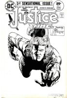McWILLIAMS, AL - Justice Ins. The Avenger #1 DC cover, 1st app & origin of Pulp hero 1975 Comic Art