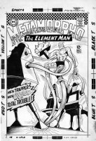 ORLANDO, JOE & SAL TRAPANI - Metamorpho #9 cover, very rare, one of the only known surviving large size covers! Metamorpho vs three crazy robots Comic Art
