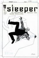 PHILIPS, SEAN - Sleeper #7 cover, by Ed Brubaker 2004 Comic Art