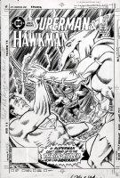 ANDERSON, MURPHY / HANNIGAN layouts - DC Presents #96 cover, Superman & Hawkman 1986 Comic Art
