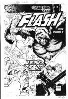 WILLIAMS II, FREDDIE - Flash #240 cover, Flash vs his classic villain; Gorrilla Grodd! - with logo overlay  Comic Art