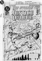WEST, KEVIN - Justice League America #85 cover, Ice Comic Art