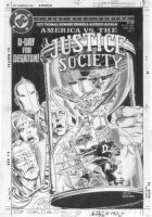 ORDWAY, JERRY - Justice Society vs America #4 cover, Golden-Age JSA Comic Art