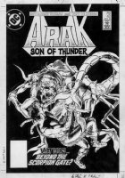 DEZUNIGA, TONY - Arak #42 cover, scorpian monster Comic Art