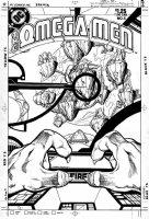 GIFFEN, KEITH - Omega Men #5 cover, Lobo story Comic Art
